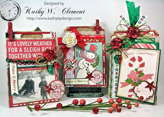 Kathy by Design/Christmas Gift Card Tags in Bags