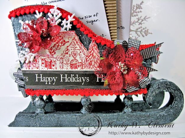 Santas sleigh recipe holder for CCB 04