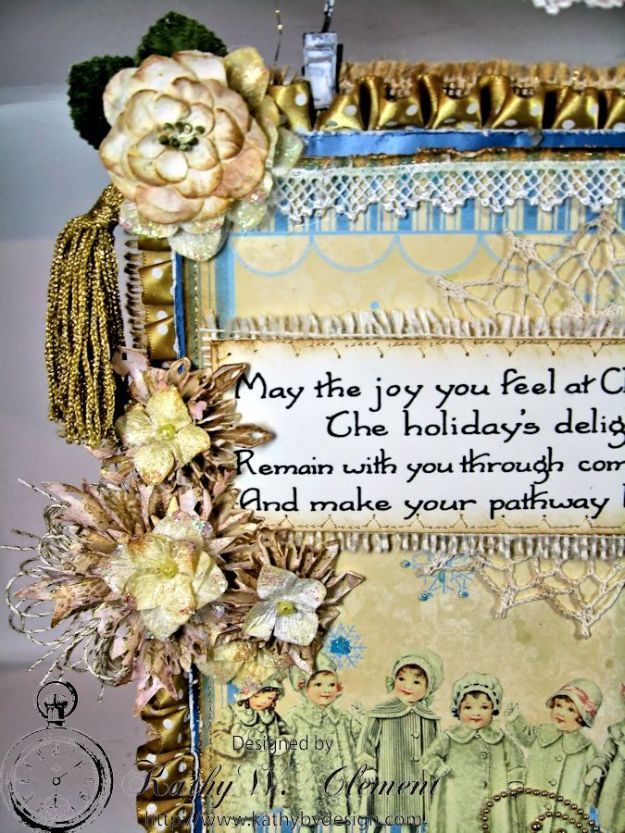 Shabby Chic Christmas Wall Hanging CS 03