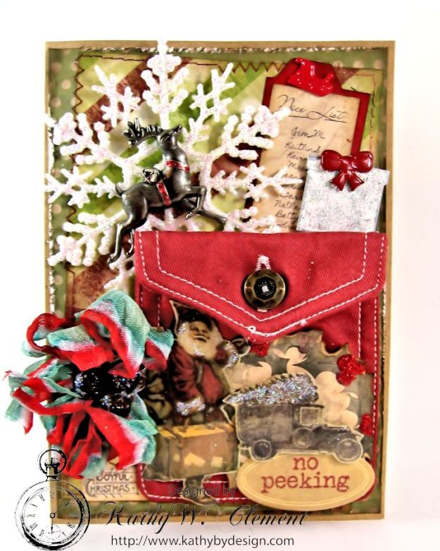 Kathy by Design/7 Gypsies Santas Journey Pocket Card 01