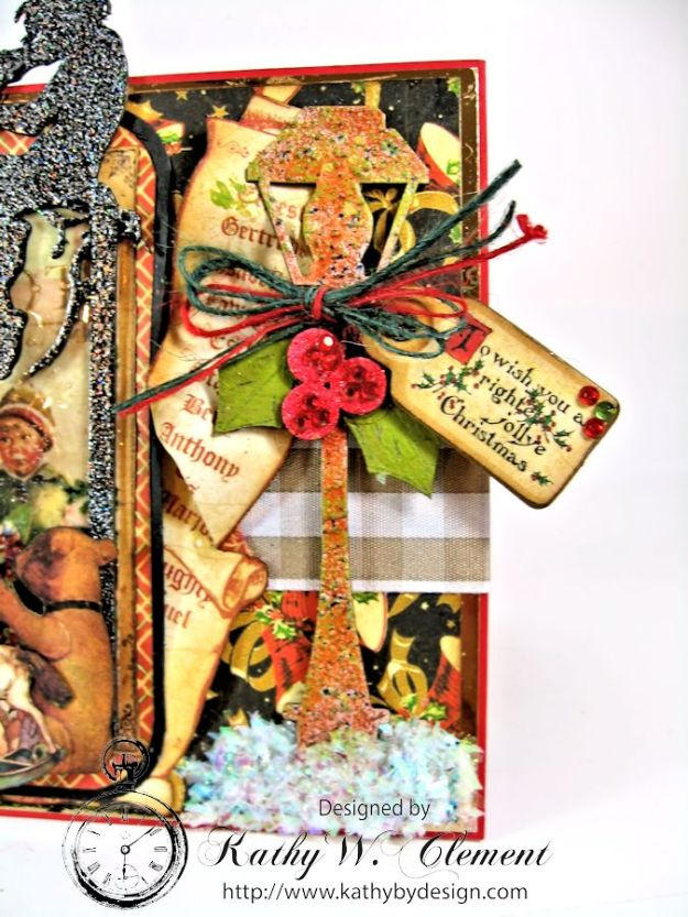 Christmas Emporium Easel card for Gypsy Soul Laser Cuts 04