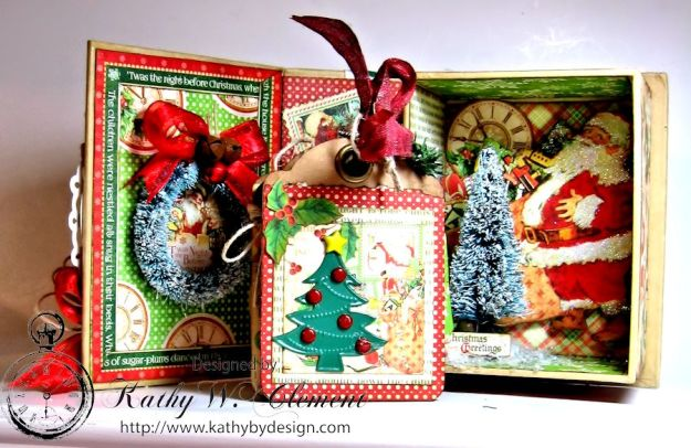 Kathy by Design Twas the Night Before Christmas book box with snowglobe 04