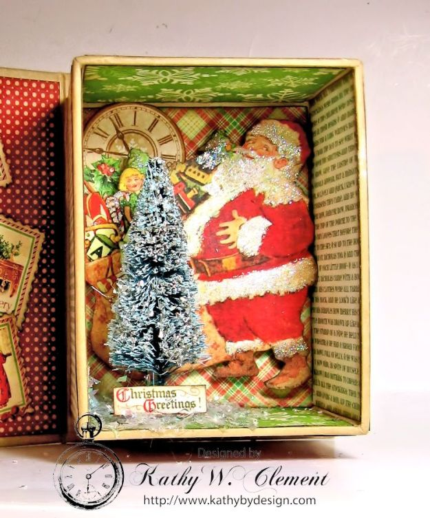 Kathy by Design Twas the Night Before Christmas book box with snowglobe 06