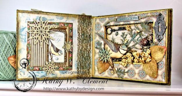 Kathy by Design Winter Bird Altered Book for Gypsy Laser Cuts 05
