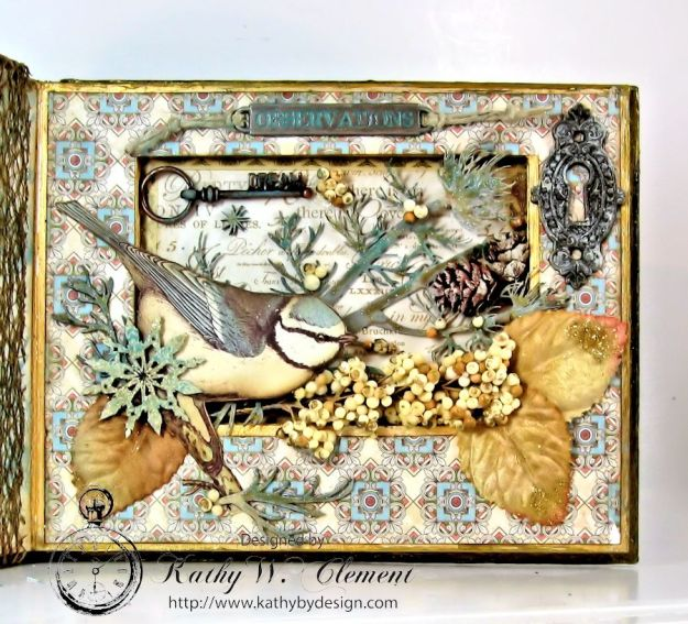 Kathy by Design Winter Bird Altered Book for Gypsy Laser Cuts 07