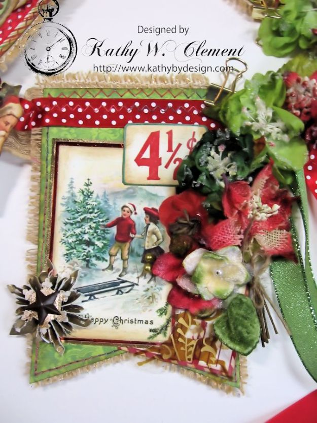 Vintage Style Christmas Banner 02