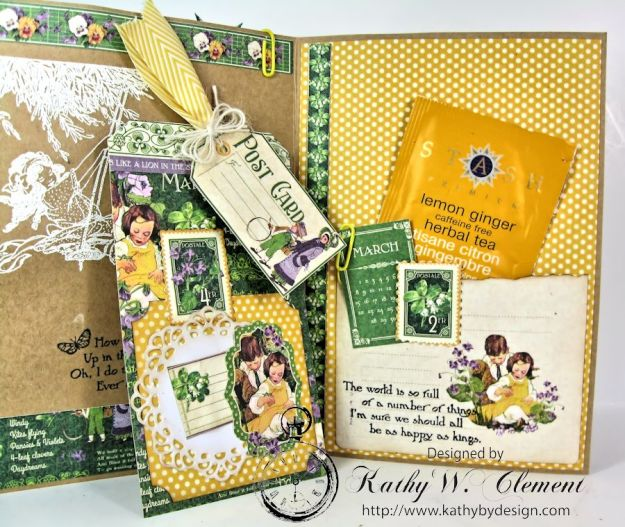 Hello Spring card for Frilly Funkie Layer it Up Challenge 08