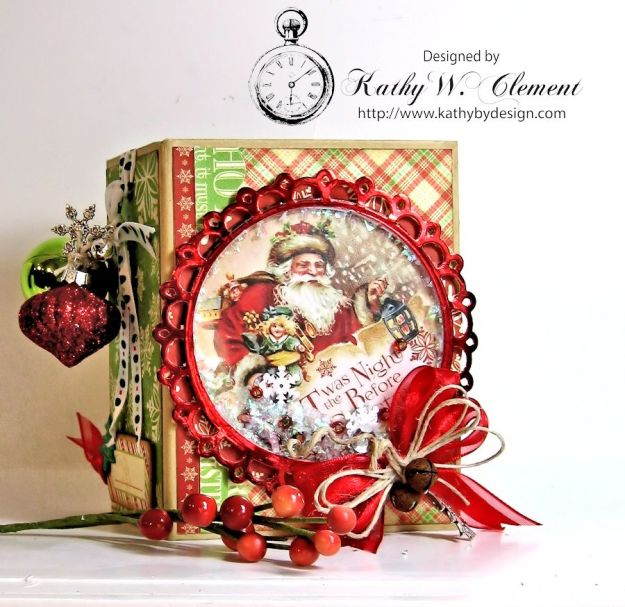 Kathy by Design Twas the Night Before Christmas book box with snowglobe 01