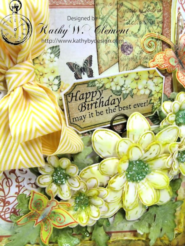 Lemon Yellow Birthday Daisy Card 03
