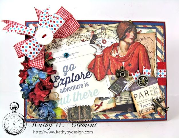 Authentique Explore Card with mini tag album 01
