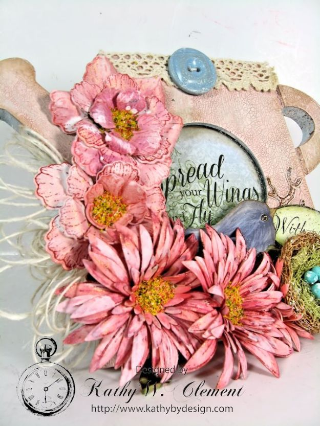 Shabby Chic Watering Can 02