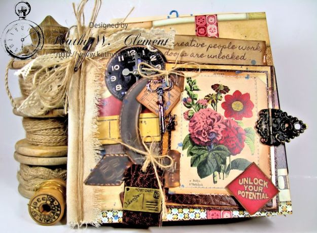 Wanderlust Junque Journal Kathy by Design 01