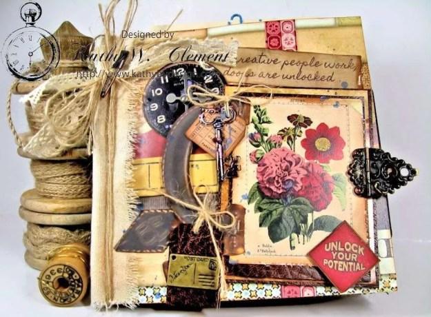Wanderlust Junque Journal Kathy by Design 01