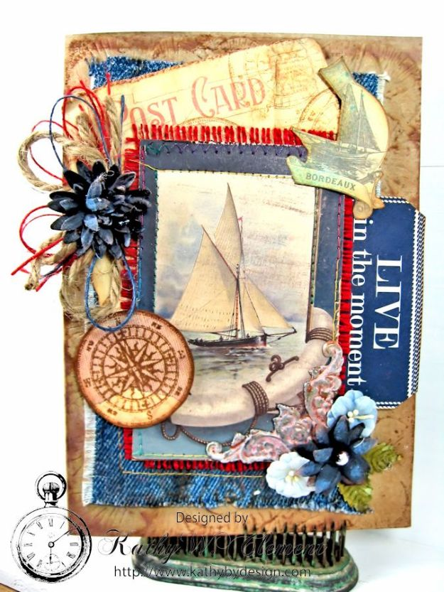 Live in the Moment Nautical Card 01
