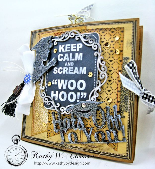 Authentique Accomplished Graduation Mini Album Tutorialby Kathy Clement for Gypsy Soul Laser Cuts 02