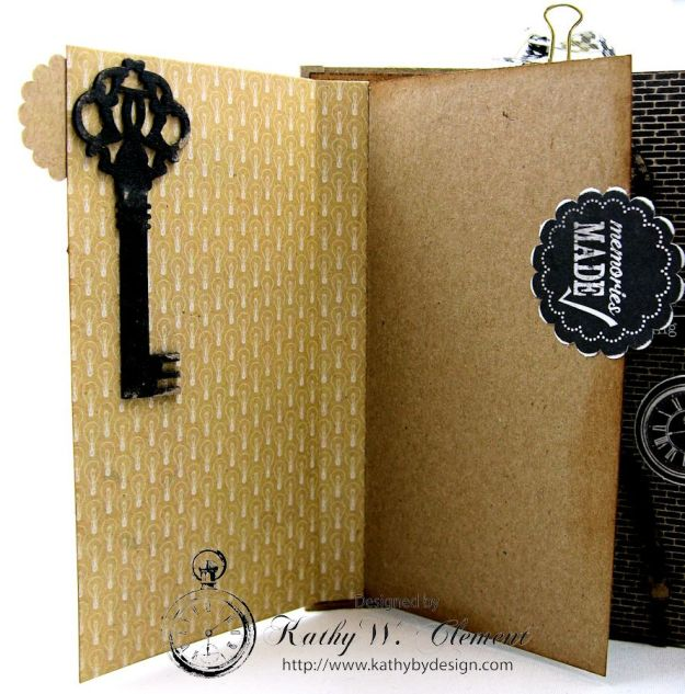 Authentique Accomplished Graduation Mini Album Tutorial by Kathy Clement for Gypsy Soul Laser Cuts 08