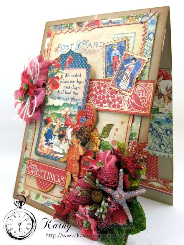 Graphic 45 Childrens Hour July Card for Frilly and Funkie Friday Focus on Petaloo by Kathy Clement 01