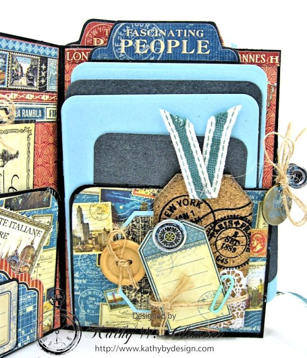 Oh the Places You'll Go Mini Album Frilly and Funkie Challenge by Kathy Clement 03
