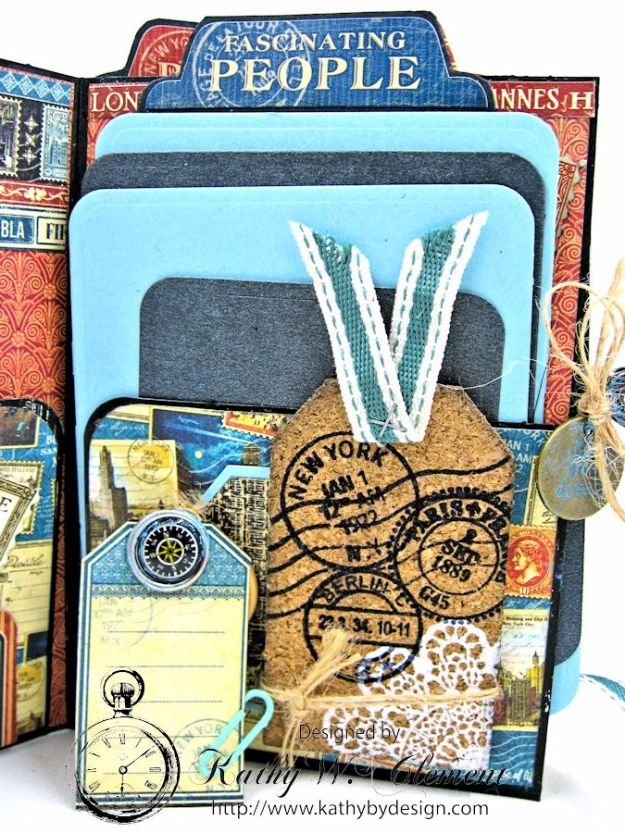 Oh the Places You'll Go Mini Album Frilly and Funkie Challenge by Kathy Clement 04