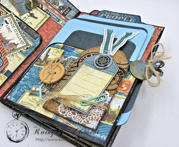 Oh the Places You'll Go Mini Album Frilly and Funkie Challenge by Kathy Clement 05