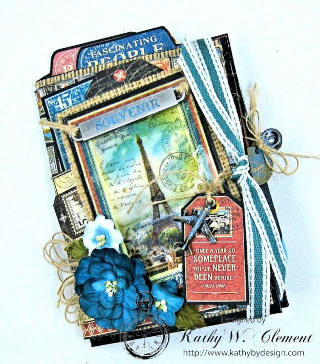 Oh the Places You'll Go Mini Album Frilly and Funkie Challenge by Kathy Clement 12