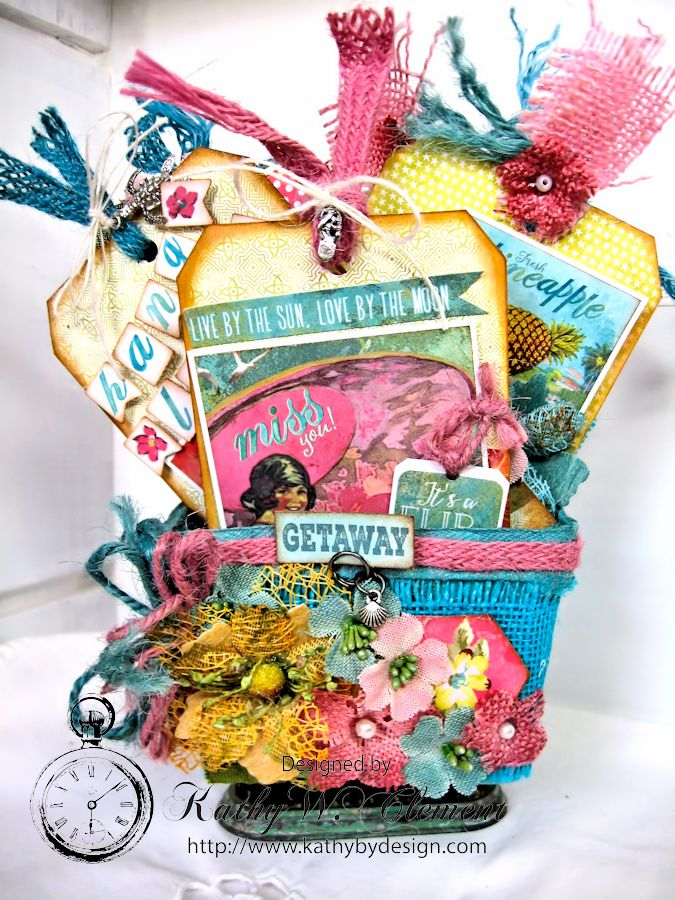 Mother's Day Beach Gift Basket and Tags - Kathy by Design