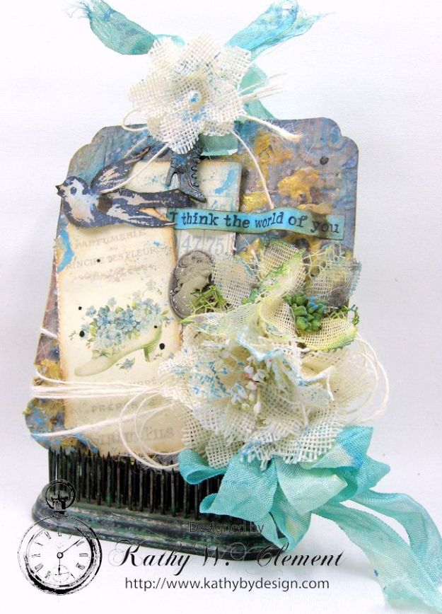 Pion Designs French Flea Market Altered Tag for Frilly and Funkie Friday Focus on Petaloo by Kathy Clement01