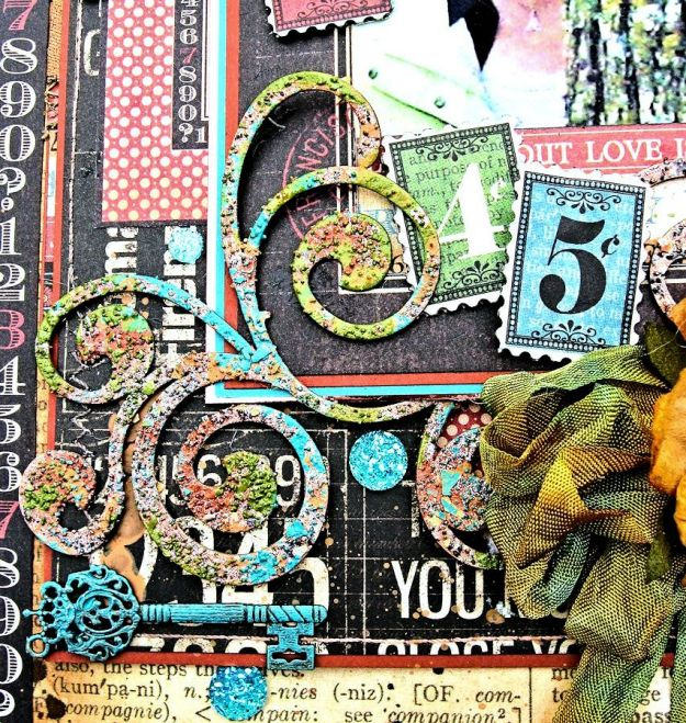 Creativity Takes Courage Layout, Typography, Tutorial by Kathy Clement, Product by Graphic 45, Photo 4