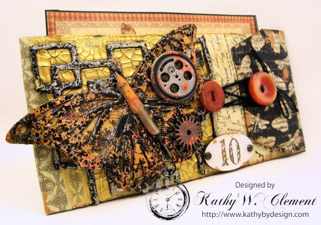 GSL Steampunk Butterfly Gift Wallet Tutorial by Kathy Clement for Gypsy Soul Laser Cuts Product by Graphic 45 DIY and Botanicabella Papers 02