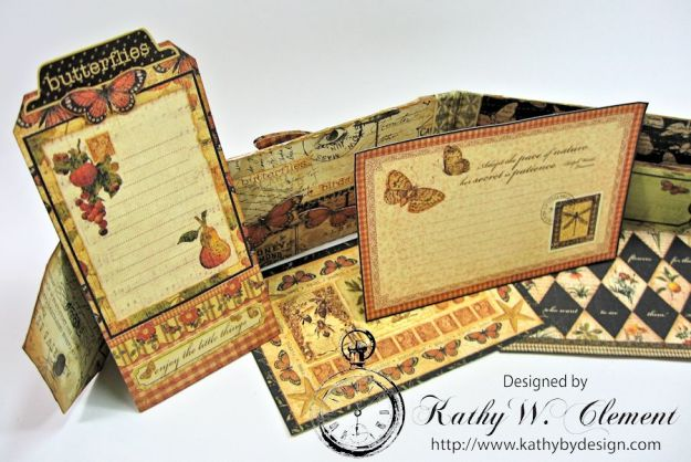 GSL Steampunk Butterfly Gift Wallet Tutorial by Kathy Clement for Gypsy Soul Laser Cuts Product by Graphic 45 DIY and Botanicabella Papers 11