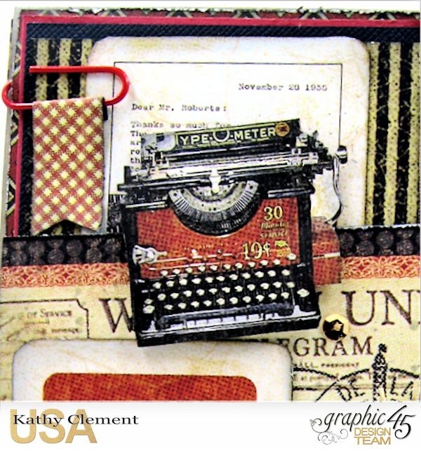 Masculine Belated Birthday Card Communique by Kathy Clement Product by Graphic 45 Photo 3