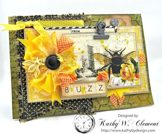 Orange Blossom Honey Gift Ensembleby Kathy Clement for Really Reasonable Ribbon Bees Knees Creativity Kit  from Polly's Paper Studio Etsy 01