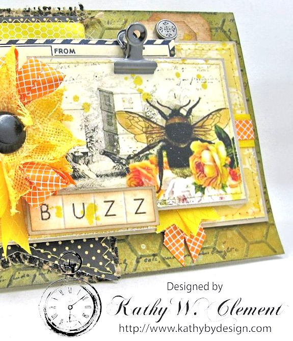 Orange Blossom Honey Gift Ensemble by Kathy Clement for Really Reasonable Ribbon Bees Knees Creativity Kit  from Polly's Paper Studio Etsy 05