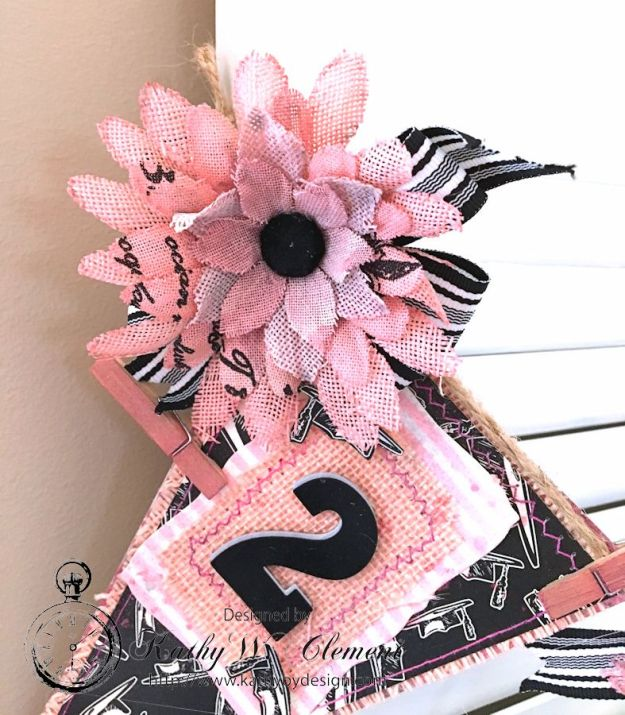 Pink and Black Graduation Banner by Kathy Clement for Petaloo International and Canvas Corp Brands Dads and Grads Blog Hop 04