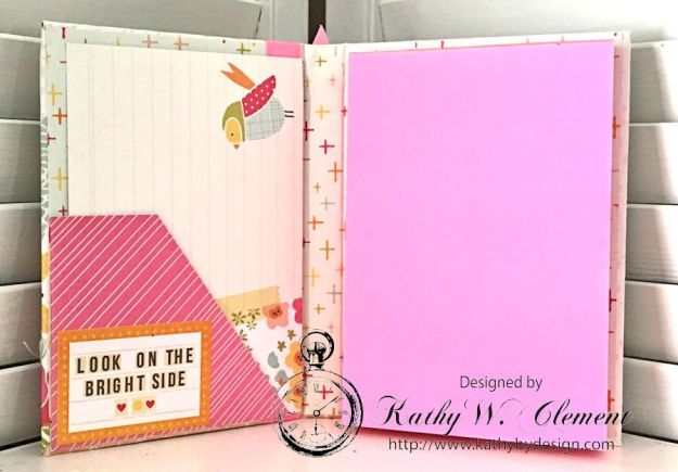 Be Someone's Sunshine Notebook by Kathy Clement for Really Reasonable Ribbon Product by Simple Stories Sunshine and Happiness and Petaloo Photo 2