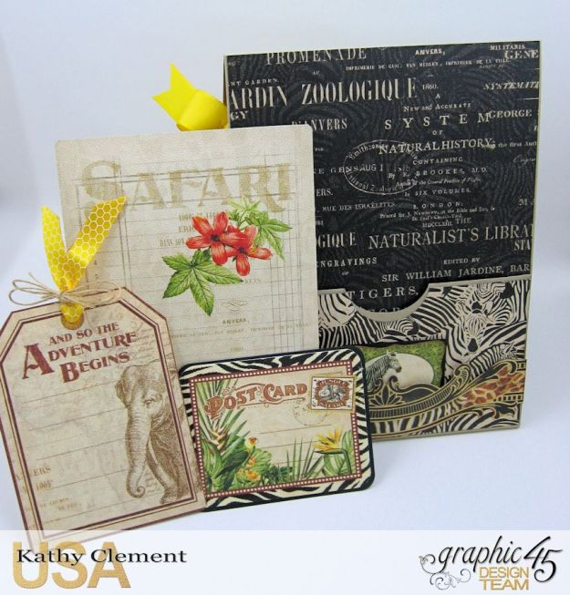 Safari Adventure Pocket Card Snapguide Tutorial by Kathy Clement Graphic 45 Safari Adventure Photo 7