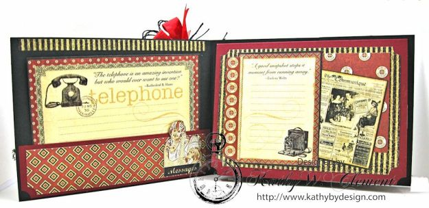 Let's Chat Photo Card, Communique, by Kathy Clement for Frilly and Funkie All Lined Up Challenge, Product by Graphic 45, Photo 2
