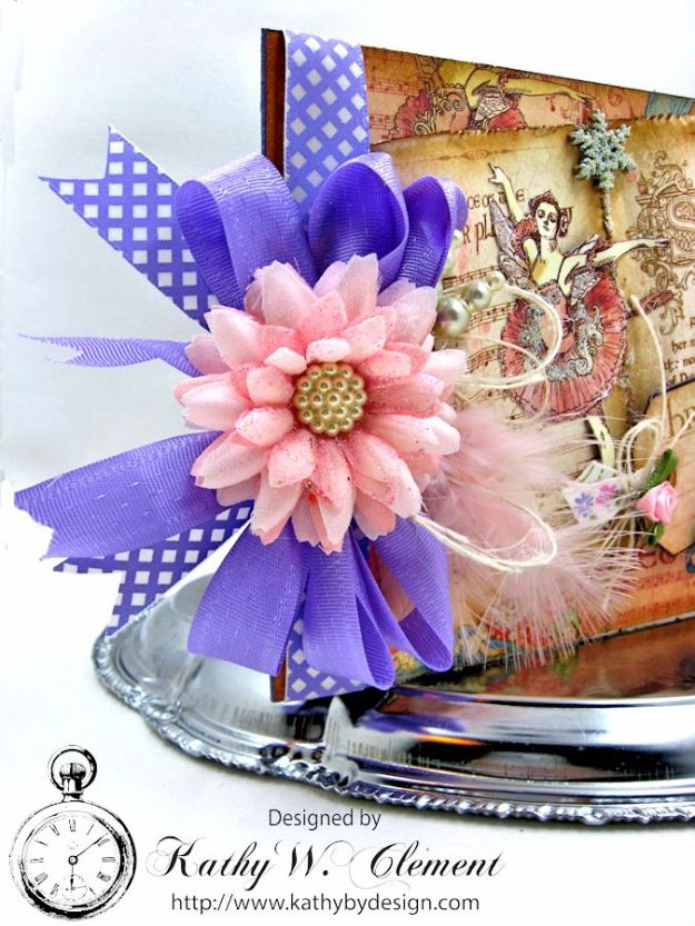 Nutcracker Sweet Pink and Purple Card by Kathy Clement for Really Reasonable Ribbon Challenge Product by RRR and Graphic 45 Photo 2