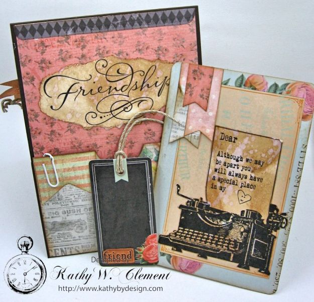 You're in My Thoughts Pocket Card by Kathy Clement for Really Reasonable Ribbon Product by Prima Something Blue Photo 6