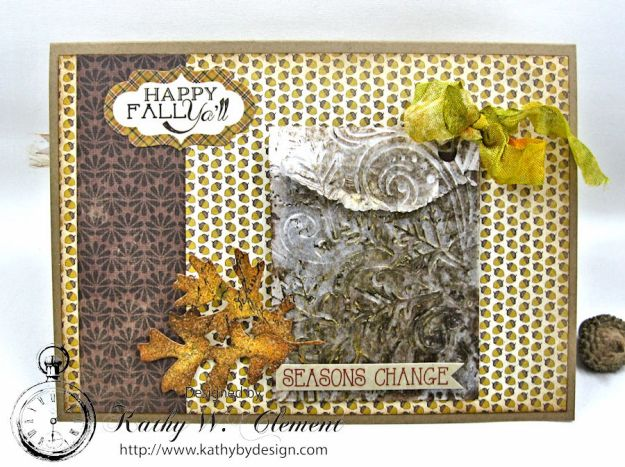 Beautiful Autumn Colors Card, Harvest, by Kathy Clement for RRR Autumn Colors Challenge, Product by Authentique, Photo 4