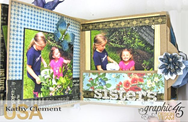 Blueberry Delight Mini Album Tutorial, Home Sweet Home, Staples Square Tag Album, by Kathy Clement, Product by Graphic 45 Photo 20