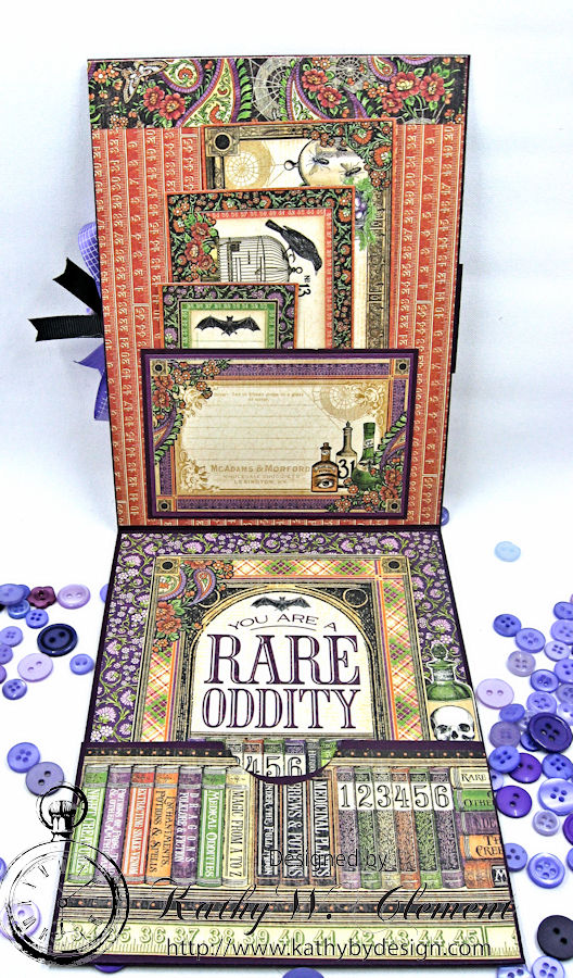 Frightfully Sweet Halloween Card, Rare Oddities, by Kathy Clement for Really Reasonable Ribbon, Product by Graphic 45 Photo 4