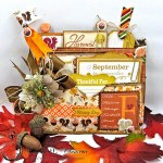 Just a Hint of Fall Paper Bag Pocket by Kathy Clement for Really Reasonable Ribbon Product October Afternoon Apple Cider Photo 3