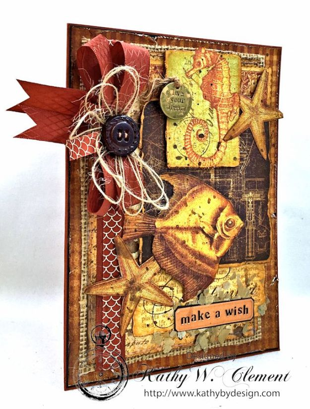Make a Wish Birthday Card by Kathy Clement for Really Reasonable Ribbon, Product Botanicabella by Graphic 45 Photo 9