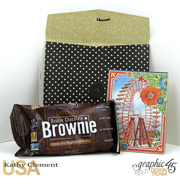 World's Fair Sweet Treat Bag Tutorial, World's Fair, Policy Envelopes by Kathy Clement, Product by Graphic 45 Photo 3
