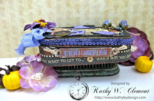 Altered Altoids Tin, Halloween in Wonderland, by Kathy Clement for Gypsy Soul Laser Cuts, Product by Graphic 45, Photo 3