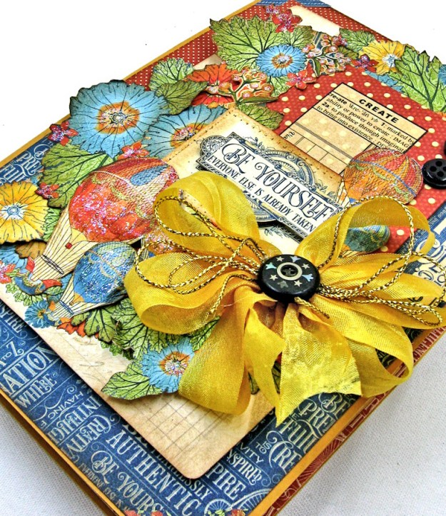 Ladies and Gents Birthday Card Tutorial,, World's Fair, by Kathy Clement Product by Graphic 45, Photo 3