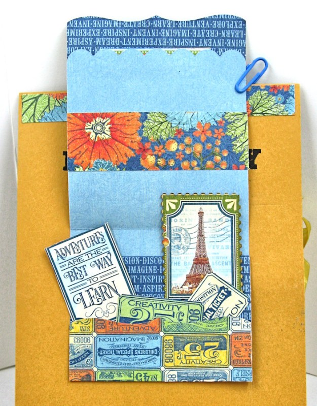 Ladies and Gents Birthday Card Tutorial,, World's Fair, by Kathy Clement Product by Graphic 45, Photo 9