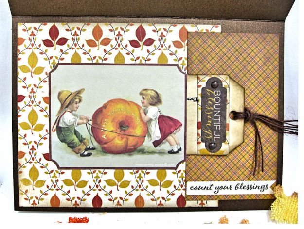 Gather Blessings Along the Way Woodland Card, Kathy Clement, photo-2