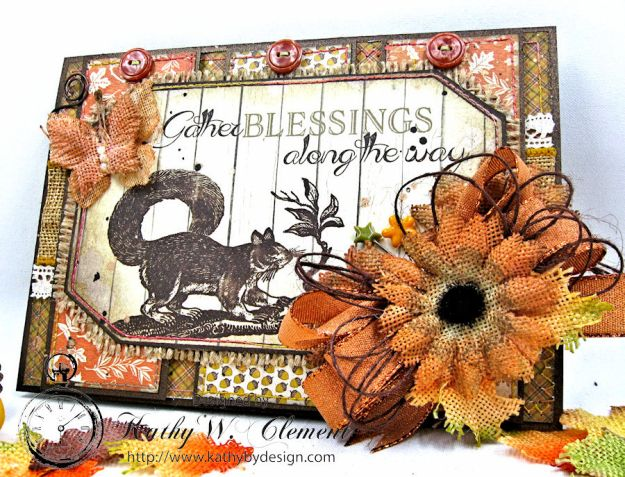 Gather Blessings Along the Way Woodland Card, Kathy Clement, photo-5